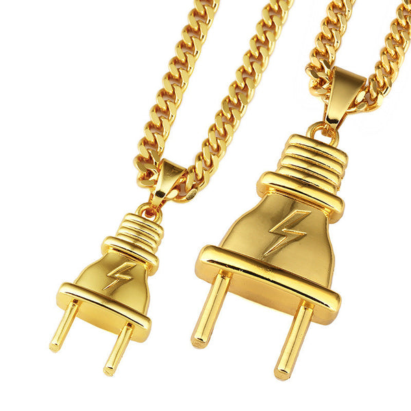 "18K Gold ""The Plug"" Necklace"