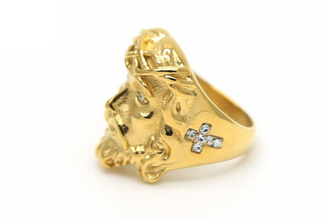 24K Jesus Piece Ring
