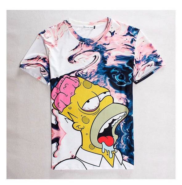 Twisted Homer Simpson T Shirt