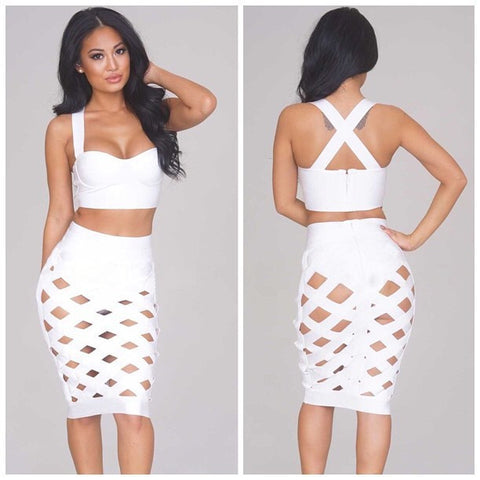 2 Piece Bodycon Dress (Available in 5 colors) - Superior Apparel
