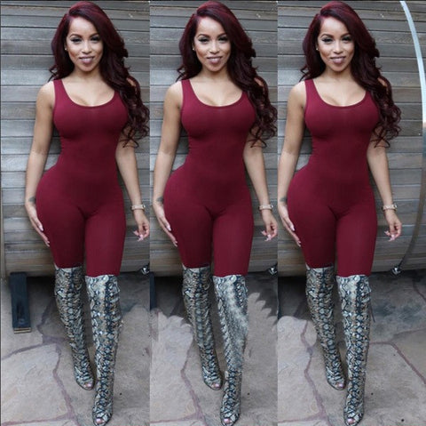 Sexy Bodycon One Piece Jumpsuit  (Available 5 colors)