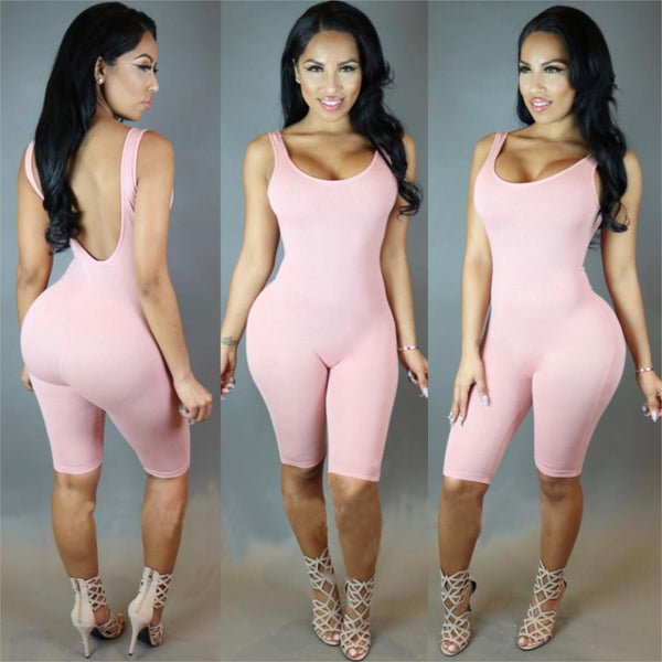 short romper style one piece bodysuit (Available 4 colors)