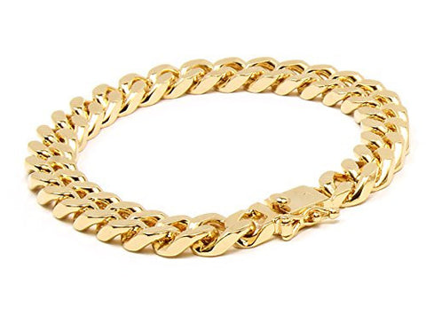 18K Gold Cuban Bracelet (10mm)