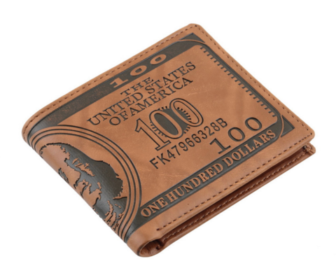 100 Dollar Bill Leather Wallet - Superior Apparel