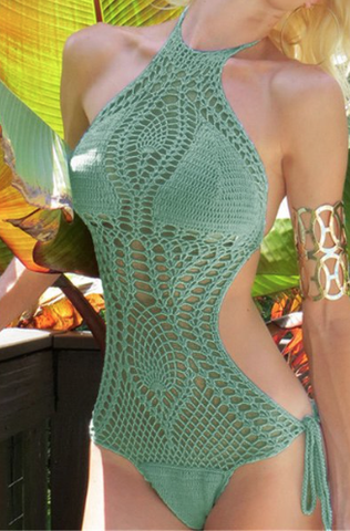 HAND KNITTED HOLLOW SWIMSUIT (Availabe 3 Colors) - Superior Apparel