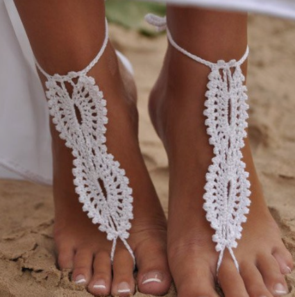 Barefoot Hand Knitted Beach Sandals (Available 3 Colors)
