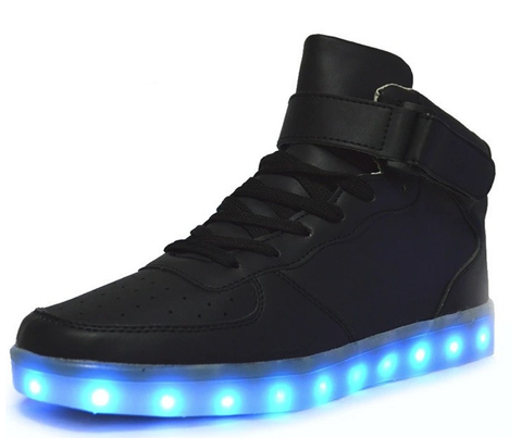 LED UPTOWN Hi Top (Available in Black or White) - Superior Apparel