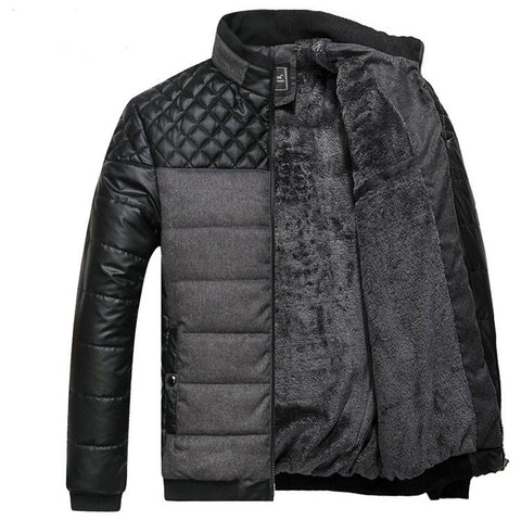 Quilted Contrast Insert Jacket