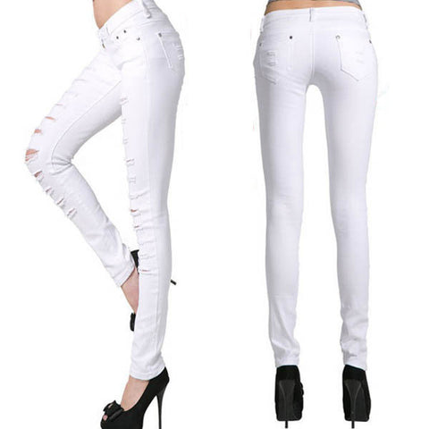 PUNK CUT STYLE FASHION JEANS - Superior Apparel