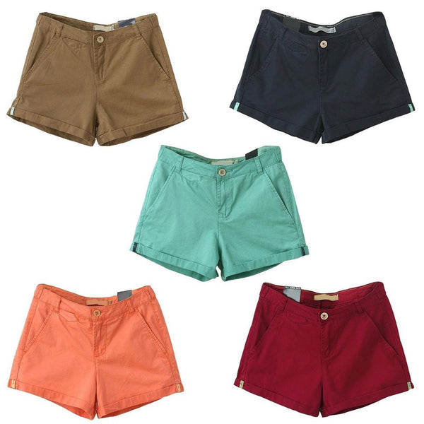 Candy Colored Stretchy Denim Shorts
