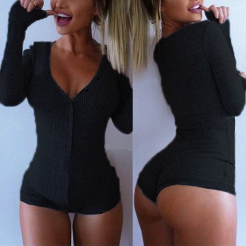 LONG SLEEVE KNITTED ROMPER (5 COLORS) - Superior Apparel