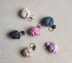 plump and co chunky keychain made in new zealand monkey knot