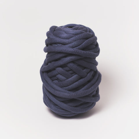 Plump & Co's giant yarn in blue 1 ply. Use our plumptious XXL New Zealand merino wool with our giant knitting needles or extreme crochet hooks to make your own chunky knit blanket or throw. Perfect for arm knitting. Worldwide shipping, free shipping to New Zealand and Australia!