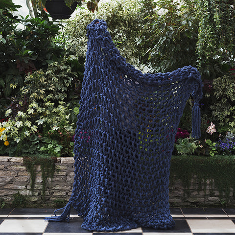 Ready-made | 1.05 Big Blue Blanket | 2ply | 160cm x 190cm