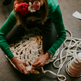 Learn how to extreme crochet with guest teacher Pony McTate in Hamilton using Plump & Co chunky giant wool merino yarn and huge giant crochet hook and knitting needles! Touring worldwide and ship free to New Zealand and Australia.