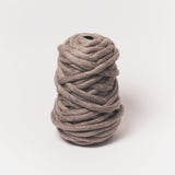 Plump & Co's giant yarn in grey 1 ply. Use our plumptious XXL New Zealand merino wool with our giant knitting needles or crochet hooks to make your own chunky knit blanket or throw. Individual bumps and extreme knitting kits available. Worldwide shipping, free shipping to New Zealand and Australia!