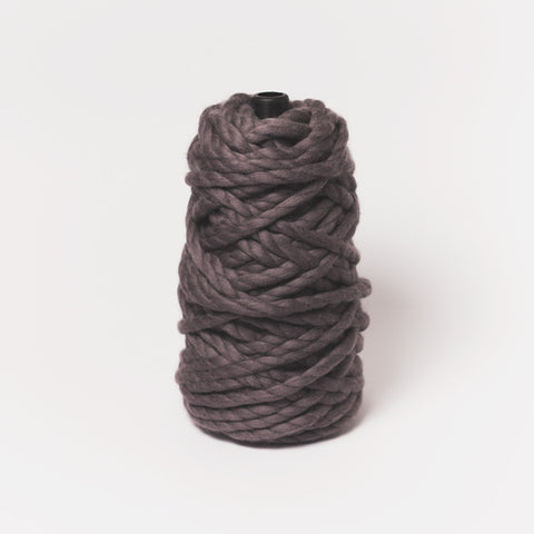 Plump & Co's giant yarn in midnight 2 ply. Use our plumptious XXL New Zealand merino wool with our giant knitting needles or extreme crochet hooks to make your own chunky knit blanket or throw. Individual bumps and extreme knitting kits available. Worldwide shipping, free shipping to New Zealand and Australia!