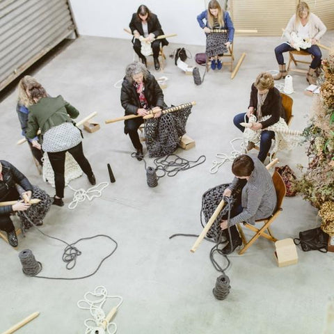Learn to knit using giant chunky merino wool yarn and giant XXL knitting needles at a Plump & Co giant knitting workshop. Plump & Co workshops available nationwide in New Zealand, Australia.