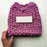 Plump & Co pussy hat by the Knitter. Knit your own with a DIY knitting kit by Plump & Co