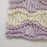 Create this chunky large seafoam wall hanging using our chunky wool merino bumps of Plump & Co 1 ply yarn, with Giant crochet hook from Plump & Co. In New Zealand and Australia. With chunky wool merino knits and layers of textures for your home inspi