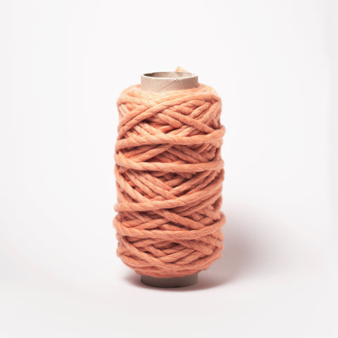 Plump & Co's giant yarn in Apricot Coral Orange 2 ply. Use our plumptious XXL New Zealand merino wool with our giant knitting needles or extreme crochet hooks to make your own chunky knit blanket or throw. Perfect for arm knitting. Worldwide shipping, free shipping to New Zealand and Australia!