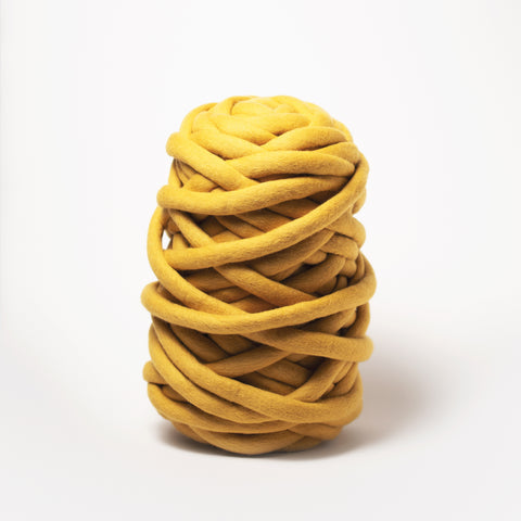 Chunky Merino Yarn | Mustard Yellow | 1 ply | LIMITED EDITION