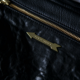 Plump & Co X Kate of Arcadia deer leather handbag made in new zealand with brass fittings in black or custom colours.
