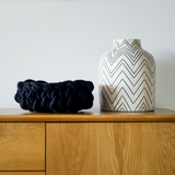 Knit your own beautiful chunky yarn XL bowl to add texture to your home.