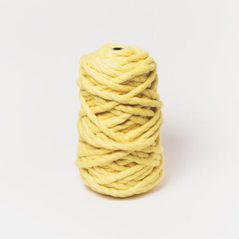 Plump & Co's giant yarn in yellow 2 ply. Use our plumptious XXL New Zealand merino wool with our giant knitting needles or extreme crochet hooks to make your own chunky knit blanket or throw. Perfect for arm knitting. Worldwide shipping, free shipping to New Zealand and Australia!