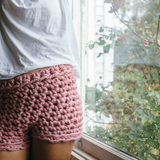 Crochet booty shorts using chunky Plump & Co chunky yarn