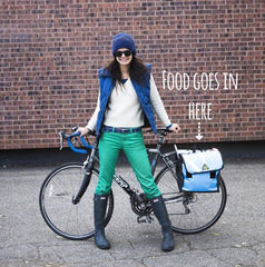 Bike Stylish Green Guru Dutchy Pannier