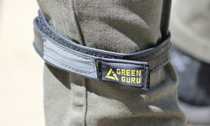 sustainably made bicycling ankle strap from green guru