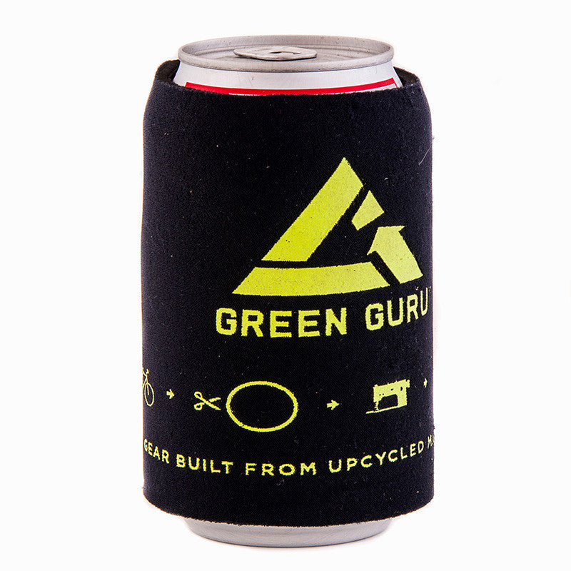 green guru beverage koozie made from old wetsuits keeps drinks cold