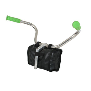 green guru cruiser cooler bike handlebar bag made of upcycled bike tubes