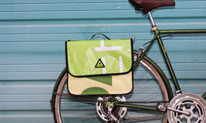 double dutch dual pannier every bike upcycled storage green guru colorado bike cargo mounted on townie bike