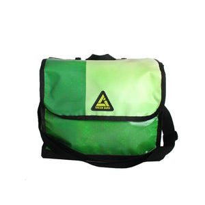 green guru dutchy pannier bike bag upcycled shoulder strap convertible