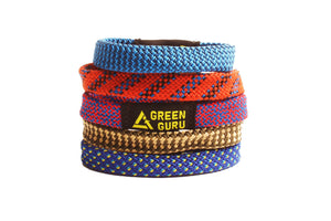 climbing rope bracelet green guru upcycled climbing rope colorways ecofriendly