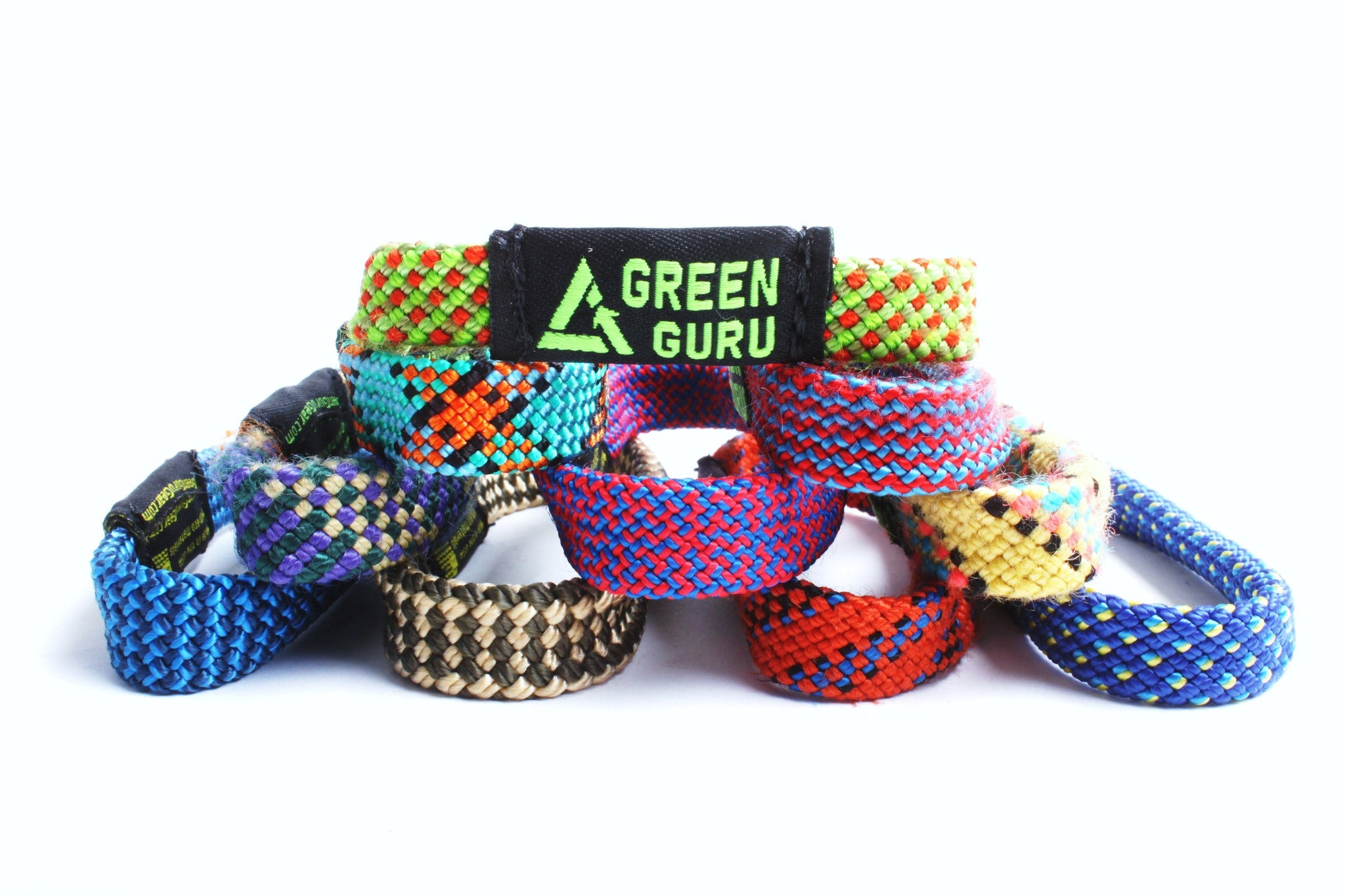 rope hair style climbing rope bracelet sold as singles green guru gear 7038
