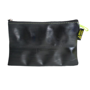 zipper pouch made from upcycled bike tubes in colorado by green guru gear grand size empty