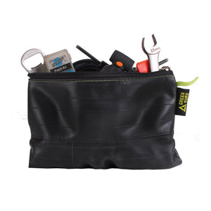 zipper pouch made from upcycled bike tubes in colorado by green guru gear grand size