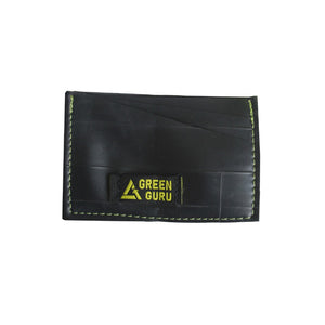 wallet made from recycled materials in usa id window green guru sustainable water resistant