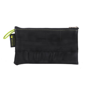 mid-size zipper pouch green guru upcycled made in colorado vegan