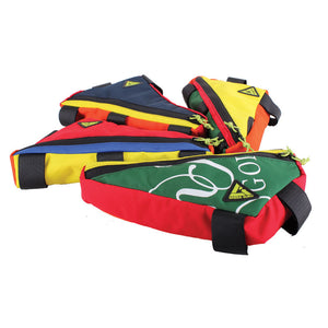 upshift frame bag colorful large multi-color green guru various colorways