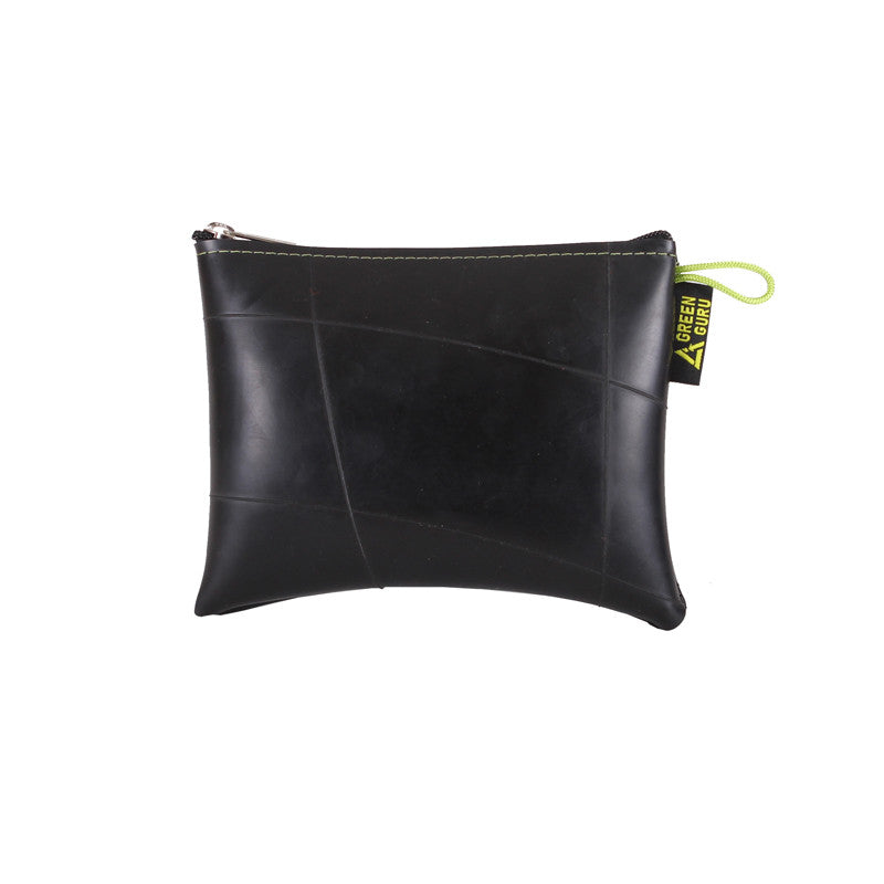 large zipper pouch sustainably made in usa holding bike tools
