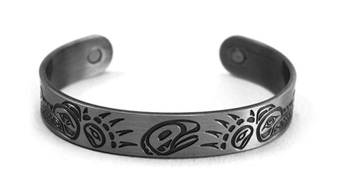 Brushed Silver Bracelet - Bears by Paul Windsor