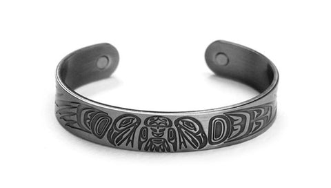 Brushed Silver Bracelet - 2 Eagles by Paul Windsor