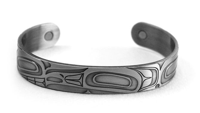 Brushed Silver Bracelet - Raptor by Corey Moraes