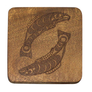 Coaster Set - Salmon by Francis Horne