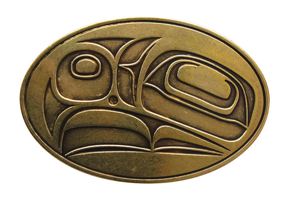 Belt Buckle - Eagle (Antique Brass Finish) by Corey Bulpitt