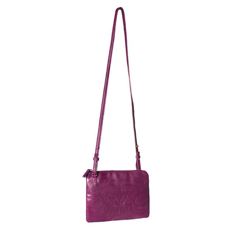 Embossed Fashion Bag - Thunderbird and Whale (Purple) by Ernest Swanson